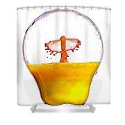 Liquid Coronet  Shower Curtain