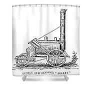 Locomotive Rocket, 1829 Shower Curtain