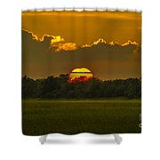 Lowcountry Sunset Over The Marsh Shower Curtain