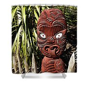 Maori Carving Shower Curtain