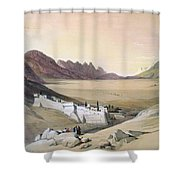 Mount Sinai Monastery Shower Curtain