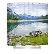 Mountain Lake In Jasper National Park Shower Curtain