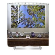 5-panel - A Forest Sky Shower Curtain