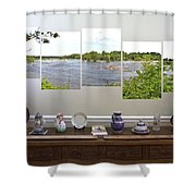 5-panel - James River Shower Curtain