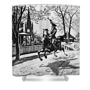 Paul Reveres Ride, 1775 Shower Curtain