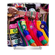 Peruvian Dancers At The Parade In Cusco Shower Curtain