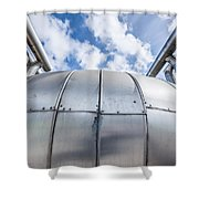 Pipes At Nesjavellir Geothermal Power Shower Curtain