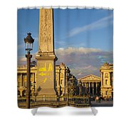 Place De La Concorde Shower Curtain