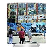 5 Pointz Graffiti Art 3 Shower Curtain
