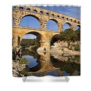 Pont Du Gard Shower Curtain by Brian Jannsen