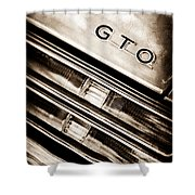 Pontiac Gto Taillight Emblem Shower Curtain