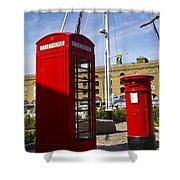 Post Box Phone Box Shower Curtain
