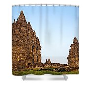 Prambanan Temple In Indonesia Shower Curtain