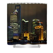 Pudong At Night Shower Curtain