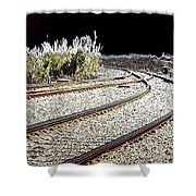 Rails Of Hope Shower Curtain