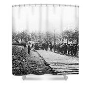 Railroad Construction Shower Curtain