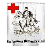 Red Cross Poster, C1917 Shower Curtain