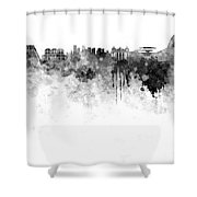 Rio De Janeiro Skyline In Watercolor On White Background Shower Curtain