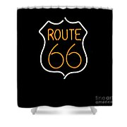 Route 66 Edited Shower Curtain