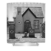 Route 66 - Phillips 66 Gas Station Shower Curtain