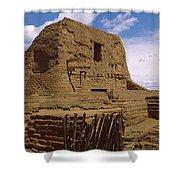 Ruins Of The Pecos Pueblo Mission Shower Curtain