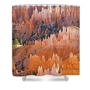 Sandstone Hoodoos In Bryce Canyon  Shower Curtain