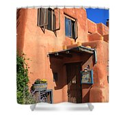 Santa Fe Adobe Building Shower Curtain