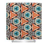 Seamlessly Tiled Kaleidoscopic Mosaic Pattern Shower Curtain