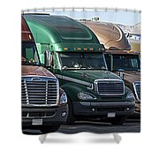 Semi Truck Fleet Shower Curtain