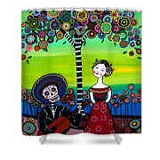 Serenata Shower Curtain by Pristine Cartera Turkus