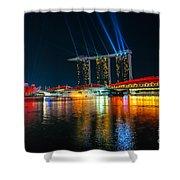 Singapore City Skyline Shower Curtain