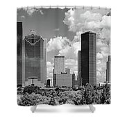 Skyscrapers In A City, Houston, Texas Shower Curtain