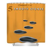 5 Smooth Stones Shower Curtain
