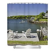 South Bristol On The Coast Of Maine Shower Curtain