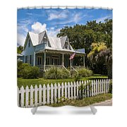 Sullivan's Island Tin Roof Story Book Cottage Shower Curtain