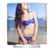 Summer Holiday Shower Curtain
