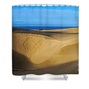 Sunrise At Oceano Sand Dunes Shower Curtain