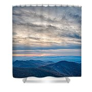 Sunset View Over Blue Ridge Mountains Shower Curtain