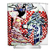 The Annunciation Shower Curtain by Gloria Ssali