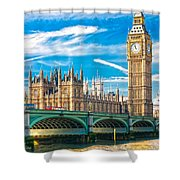 The Big Ben - London Shower Curtain