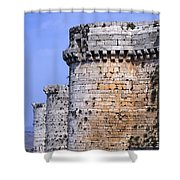 The Crusader Castle Krak Des Chevaliers Syria Shower Curtain