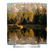 The Grand Tetons Schwabacher Landing Grand Teton National Park Shower Curtain