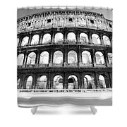 The Majestic Coliseum - Rome Shower Curtain by Luciano Mortula