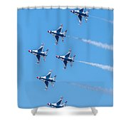 Thunderbirds In Formation  Shower Curtain