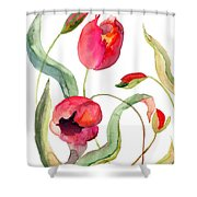 Tulips Flowers Shower Curtain