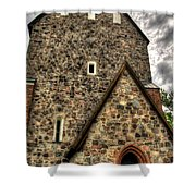 Uppsala Church - Gamia - Uppsala Sweden Shower Curtain
