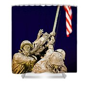Us Marine Corps Memorial Shower Curtain