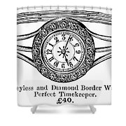 Watch Bracelet, 1891 Shower Curtain