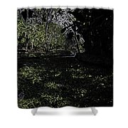 Weeds And Plants In A Coastal Saltwater Creek Shower Curtain