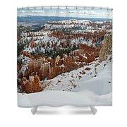 Winter Scene, Bryce Canyon National Park Shower Curtain